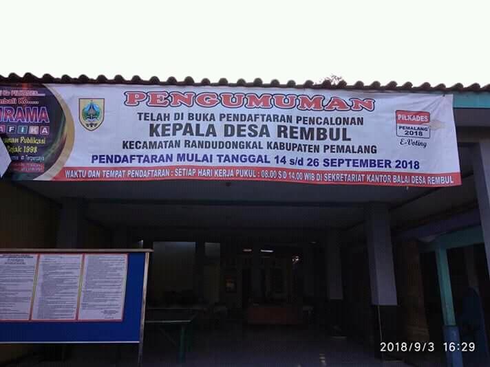 Pendaftaran Calon Kepala Desa Dibuka, 2 Orang Mendaftarkan Diri. Sejarah Baru Desa Rembul !!