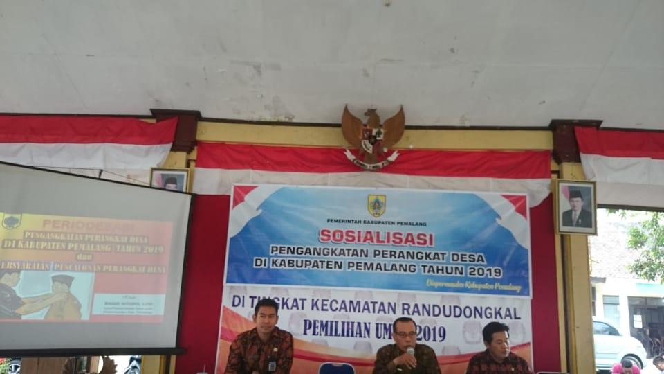 Sosialisasi Pengangkatan Perangkat Desa Kabupaten Pemalang Tahun 2019