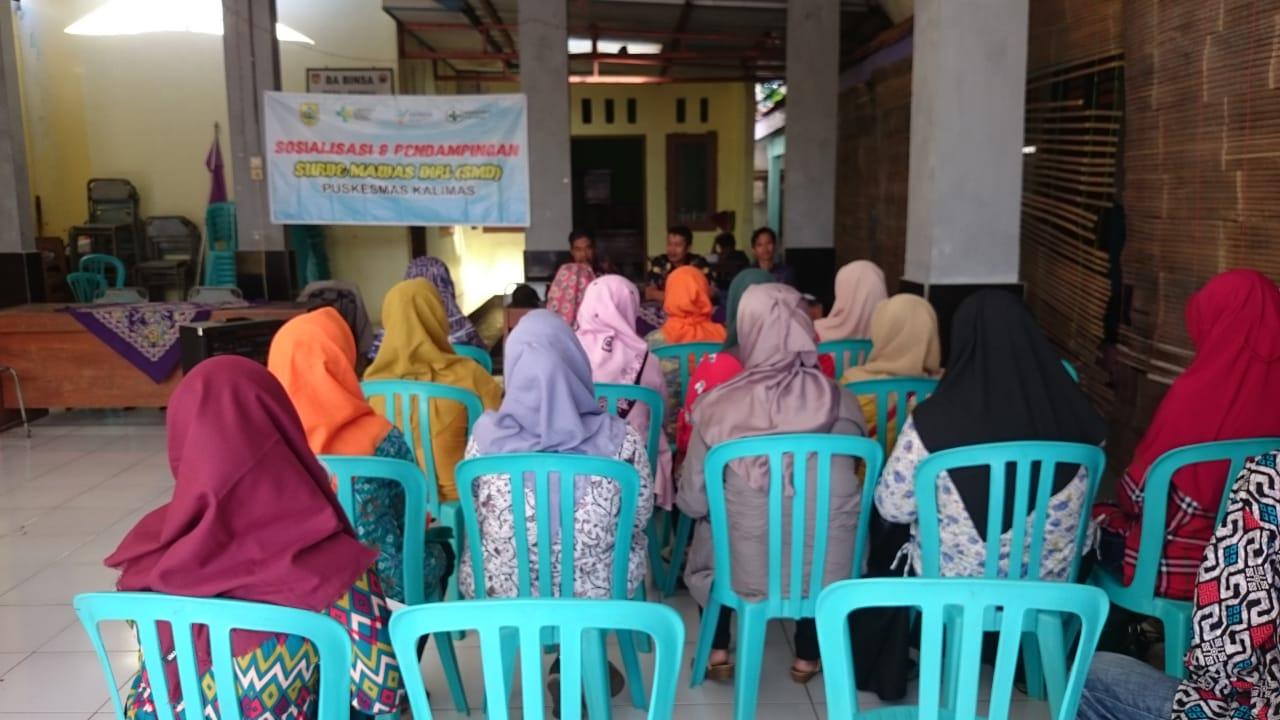 Sosialisasi dan Pendampingan Survei Mawas Diri Puskesmas Kalimas di Desa Rembul