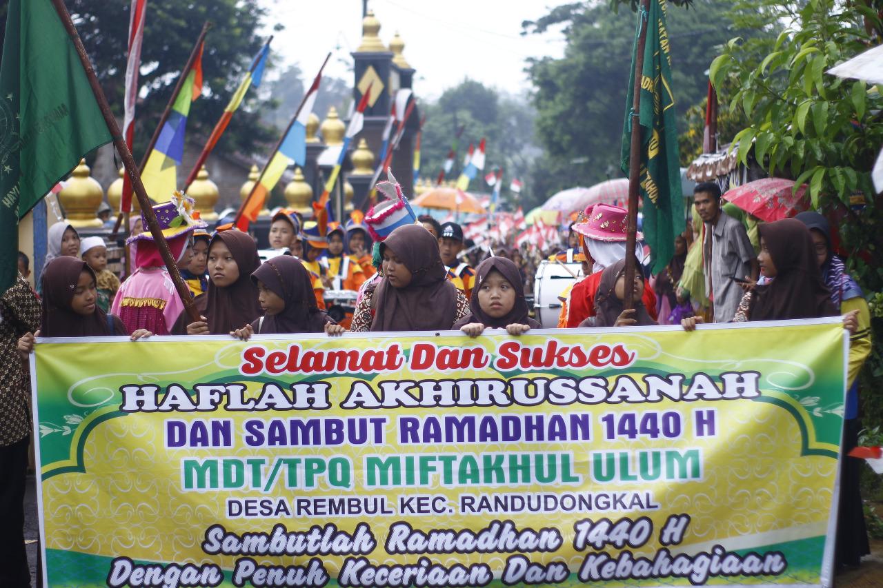 Haflah Akhirussanah Dan Sambut Ramadhan TPQ & MDA Miftahul Ulum Desa Rembul 1440 H